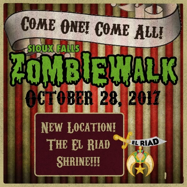 Zombie Walk registration starts at 1:00 pm at the shrine!